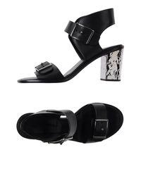 McQ Alexander McQueen Black Sandals