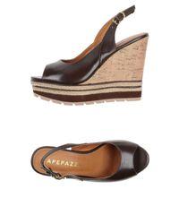 Apepazza Brown Sandals