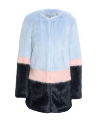 Teddy coat di Shrimps in Blue