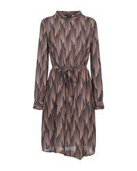 ViCOLO Brown Kurzes Kleid