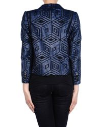 Dries Van Noten | Blue Vicky Sequin Embroidered Jacket | Lyst