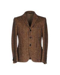 Grey Daniele Alessandrini - Brown Blazer for Men - Lyst