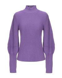 Col roulé Maria Grazia Severi en coloris Purple