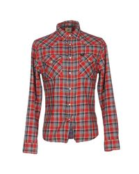 Lee Jeans - Red Shirt for Men - Lyst