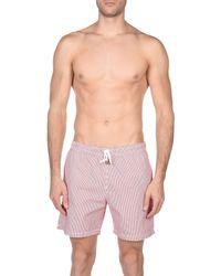 Hartford Red Swimming Trunks for men