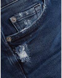 7 For All Mankind Blue Denim Pants