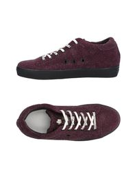 Leather Crown Purple Low-tops & Sneakers