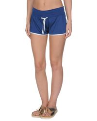Twin Set Blue Beach Shorts And Trousers