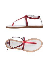 Paul Smith Red Toe Strap Sandal