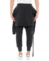 Pantalone capri di Unravel Project in Black da Uomo