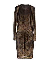 Blumarine Brown Short Dress
