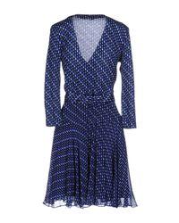 Diane von Furstenberg Blue Short Dress