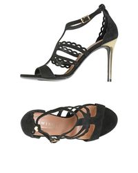 Twin Set Black Sandals