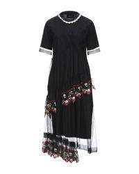 Vestido por la rodilla Simone Rocha de color Black