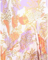 Peter Pilotto Purple Langes Kleid