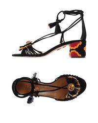 Aquazzura Black Sandale