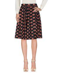 Prada Black Knee Length Skirt