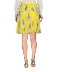 MSGM Yellow Knee Length Skirt