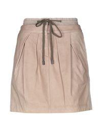 Minifalda Brunello Cucinelli de color Brown