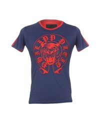 Camiseta Philipp Plein de hombre de color Blue