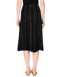 Suoli - Black 3/4 Length Skirt - Lyst