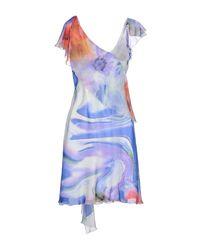 X's Milano - Orange Knee-length Dress - Lyst