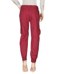 Twin Set Red Casual Trouser