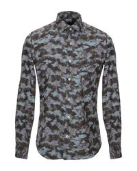 Camicia di Xacus in Gray da Uomo