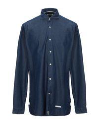 Camicia jeans di Tintoria Mattei 954 in Blue da Uomo