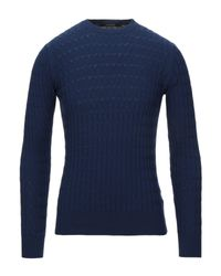 Pullover di Tagliatore in Blue da Uomo