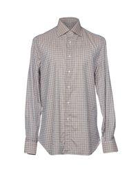 Isaia Brown Shirt for men