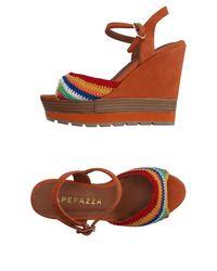Apepazza Orange Sandals
