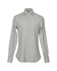 Isaia Gray Shirt for men