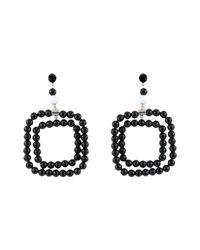 Marni Black Screw Earrings In Resin