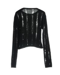 T By Alexander Wang Black Jumper