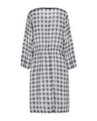 ROSSO35 Gray Kurzes Kleid