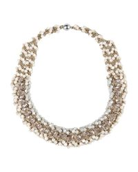 Stefanel - White Necklaces - Lyst
