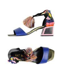 Kat Maconie Blue Sandals