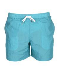 Aspesi Blue Swim Trunks for men