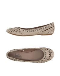 Belle By Sigerson Morrison | Natural Ballet Flats | Lyst