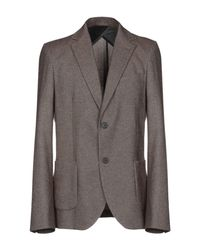 Officina 36 Gray Blazer for men