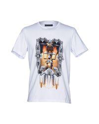 T-shirt di Frankie Morello in White da Uomo