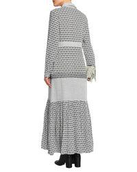 Maje White Langes Kleid