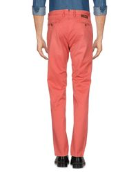 Incotex Red Casual Pants for men