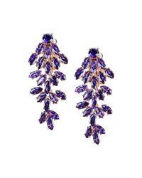 CZ by Kenneth Jay Lane   Purple Earrings   Lyst