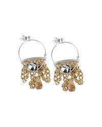 First People First Metallic Earrings