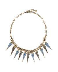 Lulu Frost Blue Necklace