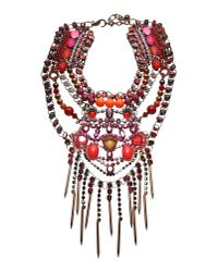 Vickisarge | Red Necklace | Lyst