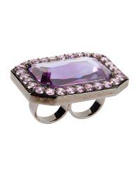 Noir Jewelry - Purple Ring - Lyst