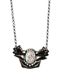 Deepa Gurnani | Gray Necklace | Lyst